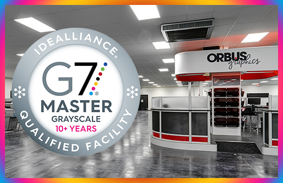 ORBUS CELEBRATES 10 YEARS AS A G7 MASTER IDEALLIANCE QUALIFIED PRINTER